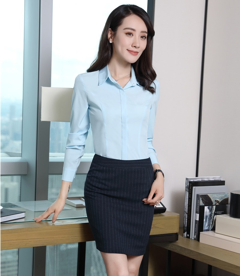 [해외]정식 여성 작업복 2 피스 스커트 및 탑 세트 블라우스 & amp; 셔츠 우아한 숙녀 사무복 스타일/Formal Women Work SuitsTwo Piece Skirt and Top Sets  Blouses & Shirts Elegant Ladi