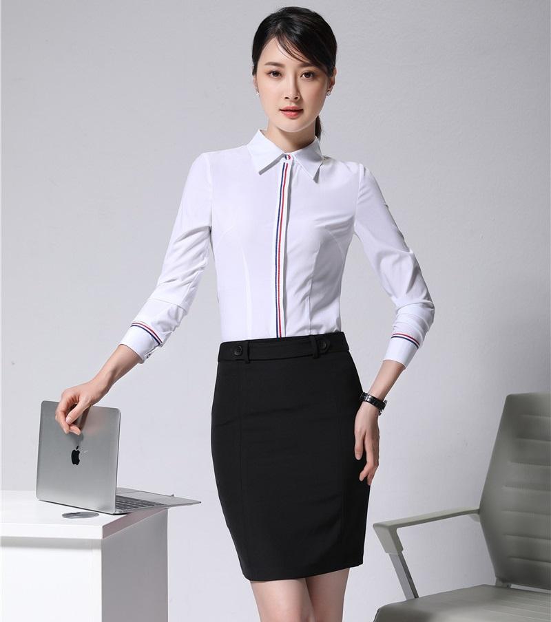 [해외]여성 작업복 정장 2 조각 스커트와 탑 세트 화이트 블라우스 & amp; 셔츠 우아한 숙녀 사무복 스타일/Women Work Wear Suits2 Piece Skirt and Top Sets White Blouses & Shirts Elegant