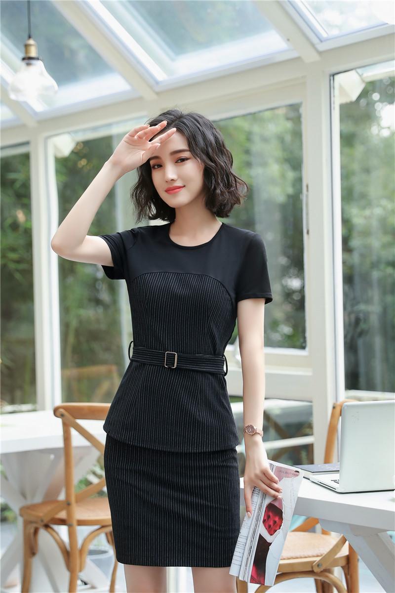 [해외]정장 스커트 정장 비즈니스 여성을블라우스 2 조각가 스커트 전문적인 제복 스타일 비즈니스 여성 의류/Formal Skirt Suits Blazers 2 PieceTops And Skirt For Business Women Professional Uniform S