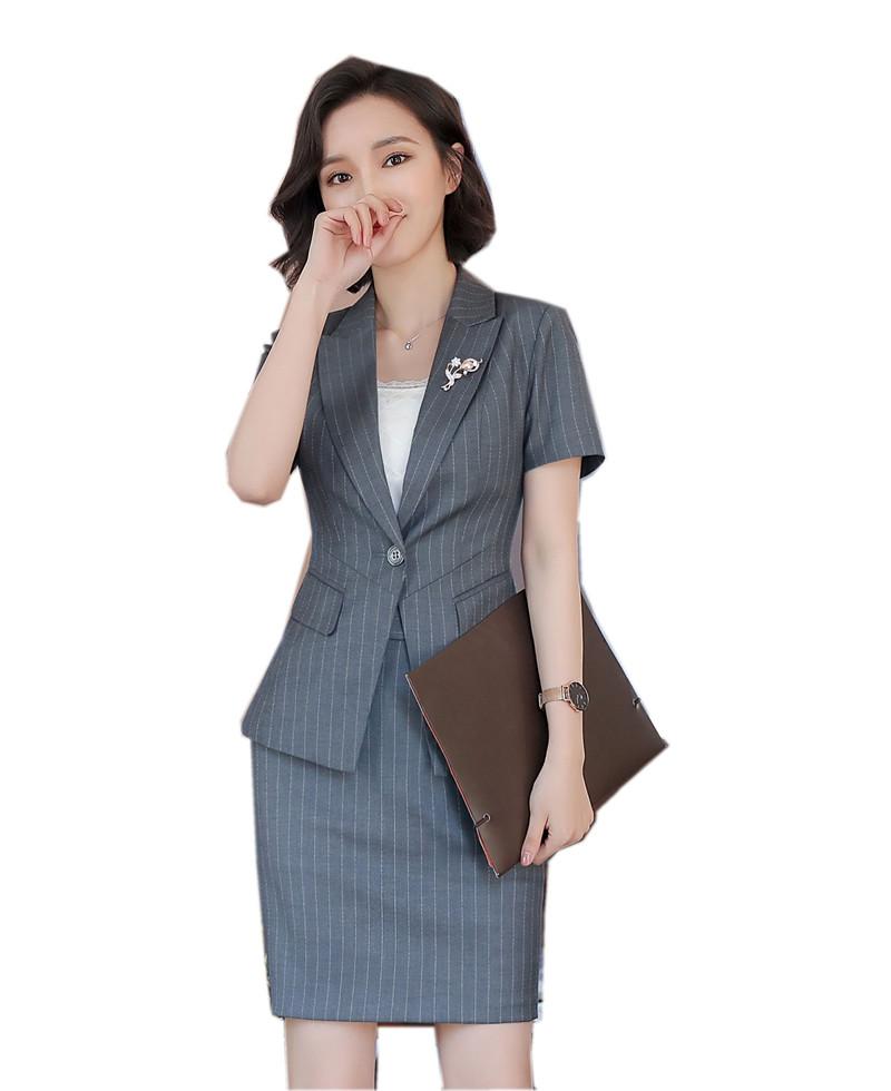 [해외]2018 새 여성복 슬림 워크웨어 오피스 레이디스 반Retail 블레이저 스커트에 맞는 womenskirt 플러스 사이즈 3XL/2018 new women suits slim work wear office ladies short sleeve blazer skir