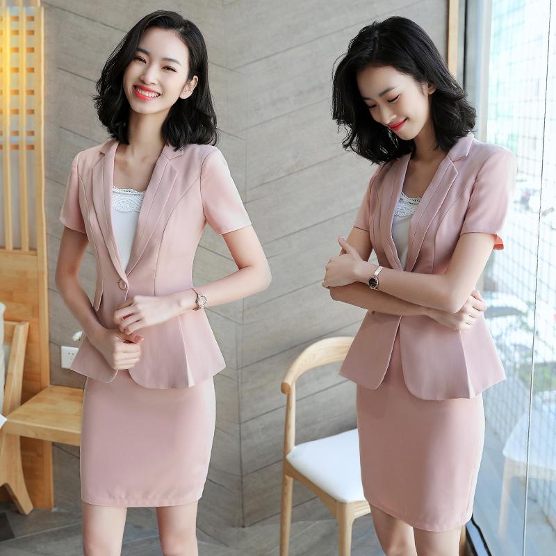 [해외]높은 품질 패션 공식적인 사무실 여성 숙 녀 통 제 직업 경력 직장 여성 핑크 슬림 블레 이저 정장 숙 녀 스커트 정장/High quality Fashion Formal Office Women Ladies Uniform Business Career for wor