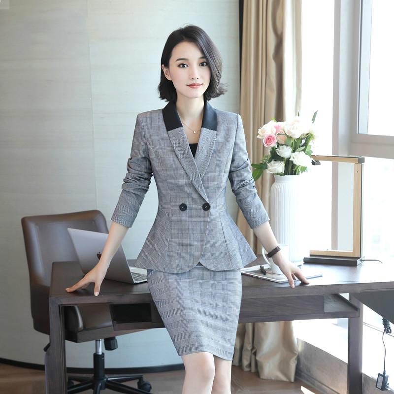 [해외]블레이져 자켓 + 슈트 세트 호텔 작업복 공식 유니폼 여성 비즈니스 우아한 브래지어 정장/Blazer Jacket+ Suit Set Hotel Work Clothes Formal Uniform Female Business Elegant Brazer Suits