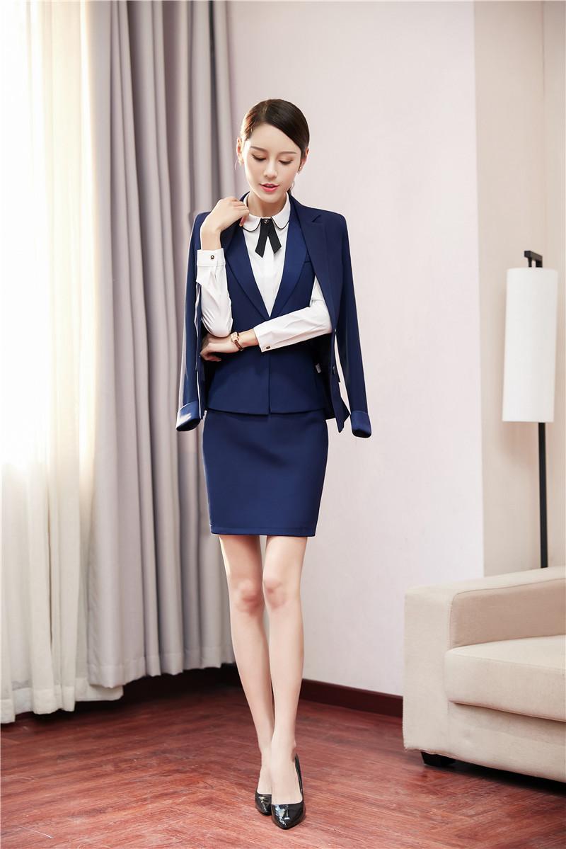 [해외]유니폼 스타일 4 조각 블레 이저 정장 재킷과 치마와 조끼 코트 & amp; 여성용 바지 및 블라우스/Uniform Styles 4 Pieces Blazers SuitsJackets And Skirt And Vest Coat & Waistcoat