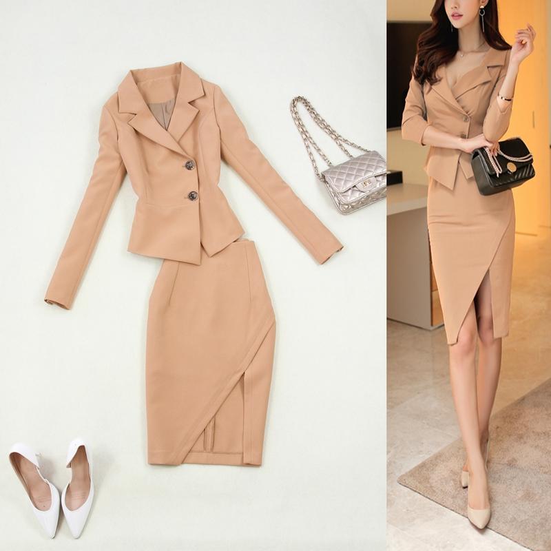 [해외]뜨거운 새로운 패션 여성 정장 슬림 작업복 사무실 숙녀 긴 Retail 재킷 스커트 맞는 womenskirt의상/Hot new fashion women suits slim work wear office ladies long sleeve blazer skirt s