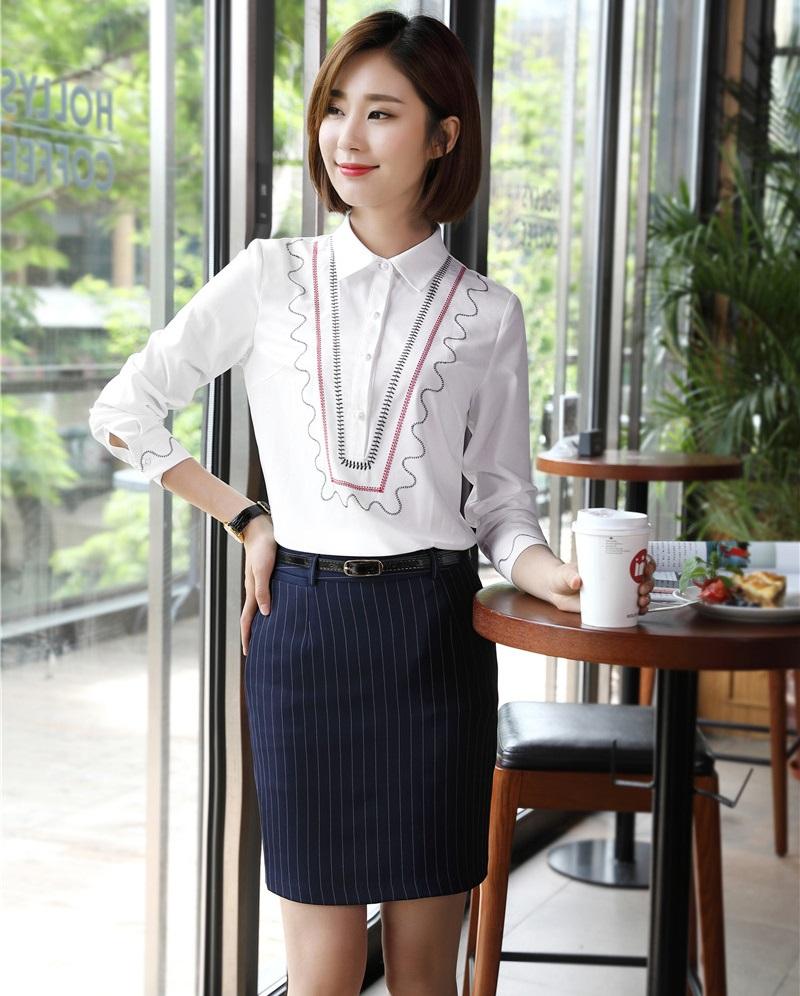 [해외]패션 여성 비즈니스 정장 2 조각 스커트와 탑 세트 블랙 블라우스 & amp; 셔츠 숙녀 사무복 스타일/Fashion Women Business Suits2 Piece Skirt and Top Sets Black Blouses & Shirts La