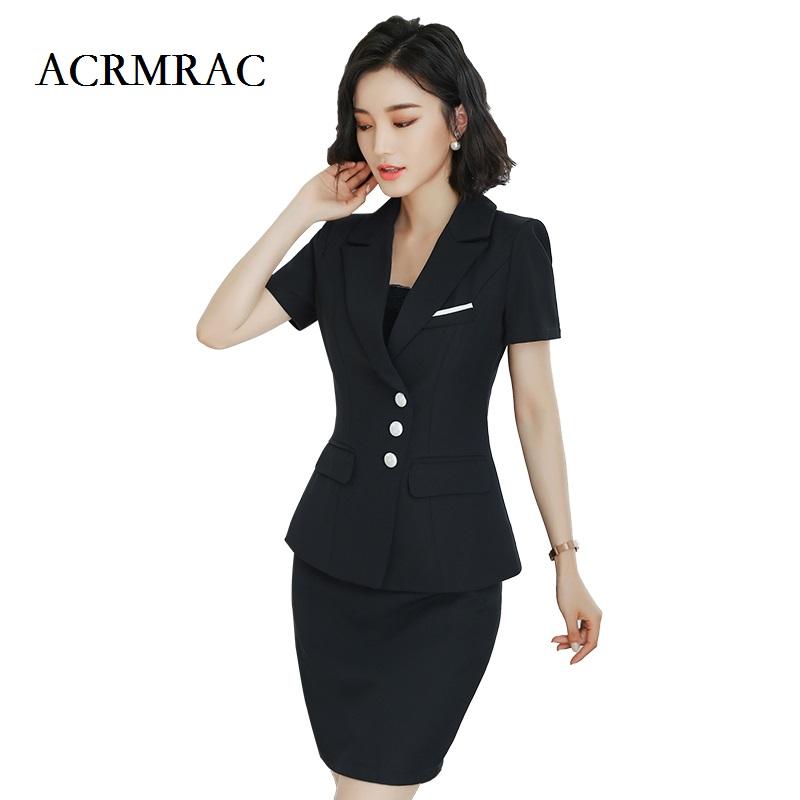 [해외]ACRMRAC 여성 의류 신 여름 정장 짧은 정장 순수 컬러 슬림 재킷 스커트 비즈니스 OL 정장 스커트 정장/ACRMRAC Women&s clothing The New Summer suit Short suit Pure color Slim jacket skirt