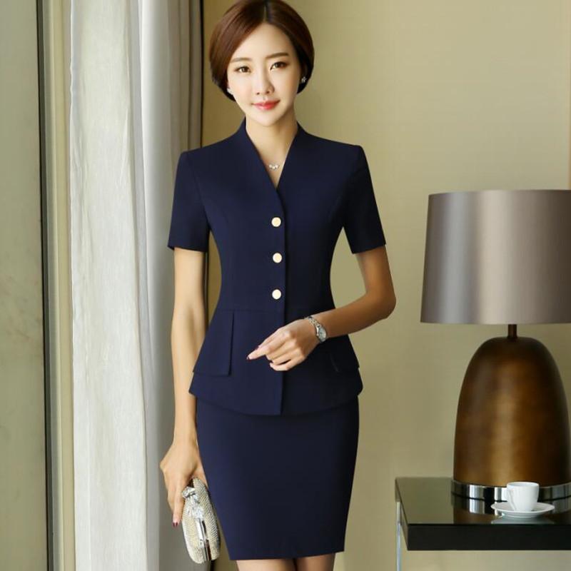 [해외]패션 V 목 여성 스커트 정장 봄 공식적인 긴 Retail 슬림 면접 블레이저와 바지 사무실 숙녀 플러스 사이즈 작업복 세트/Fashion V neck women Skirt suits set spring formal long sleeve slim Intervie