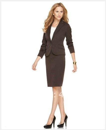 [해외]여성 드레스 여성 의류 맞춤 정장 원 버튼 피크 칼라 블레이저 & amp; 연필 치마 갈색 여성 정장 702/Women Dresses  Women Clothes  Custom Suit One Button Peak Collar Blazer & Pen