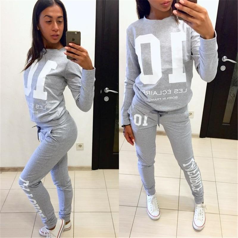 [해외]2017 뉴 프린트 여성 & 트랙볼 V 넥 세트 정장 여성 여성용 긴 바지 여성용 후드 스웨터 여성 10 여성용 레터 프린트/2017 New Print Women&s Tracksuits V-Neck Set Suits For Women hoodies swe