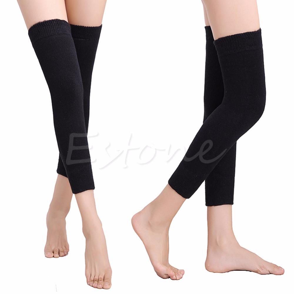 [해외]새로운 여성 남자 따뜻한 캐시미어 양모 무릎 따뜻하게 다리 허벅지 높은 패드 레깅스/New Women Men Warm Cashmere Wool Knee Warmers Leg Thigh High Pad Legging