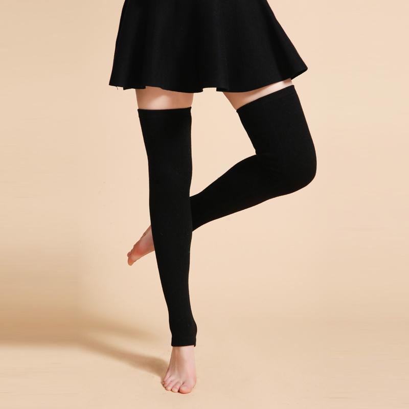 [해외]새로 디자인 여성 겨울 따뜻한 솔리드 다리 따뜻하게 양모 뜨개질 높은 양말 양말 AUTUMN Ruffle Trim Leg Warmers Boot Topper Socks/Newly Design Women Winter Warm Solid Leg Warmers Woo