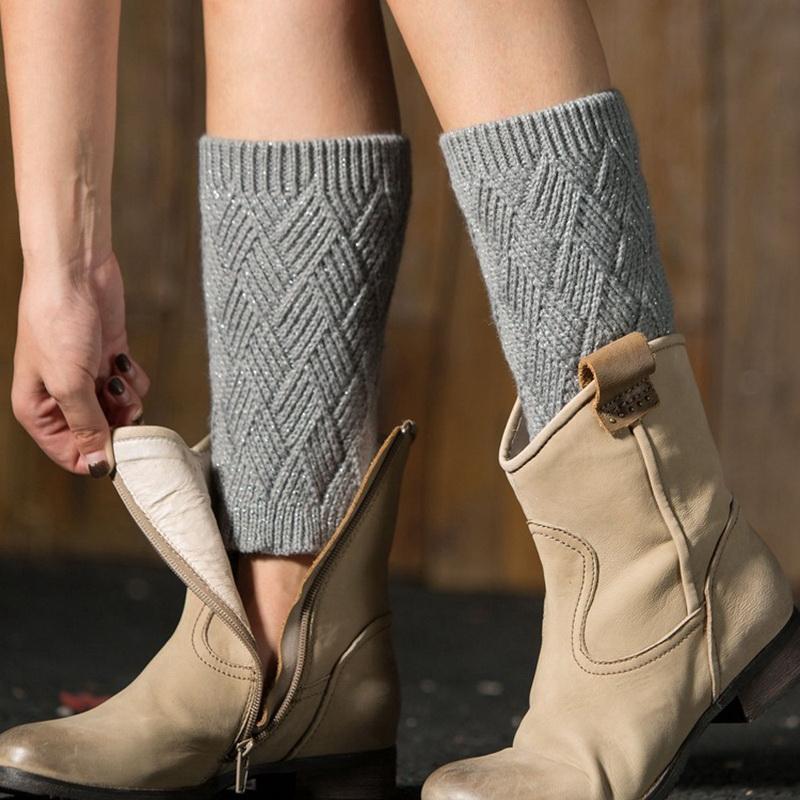 [해외]1 쌍 여성 니트 부츠 커프스 겨울 레그 워머 5 색 레깅스 각반 캘린더 piernas mujer/1 Pair Women Knitted Boot Cuffs Winter Leg Warmers 5 Color leggings gaiters calentadores pi