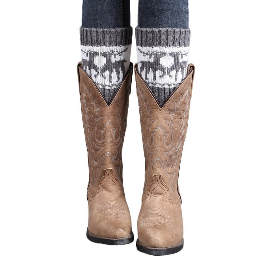 [해외]여성용 레그 워머 크리스마스 와피 티 부츠 커버 뮬 레그 워머 부츠 여성용 폴리 우레탄 pula as mulheres/leg warmers for women Christmas Wapiti boot covers knit leg warmer boot socks wo