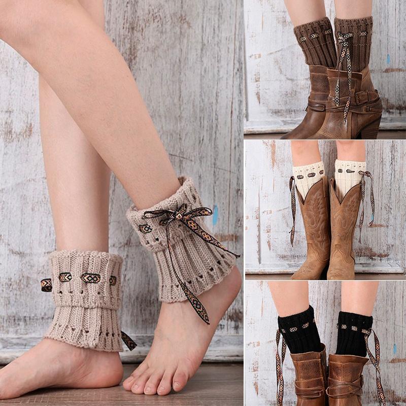 [해외]1 쌍 핫 세일 소녀 레이디 겨울 부팅 Toppers 여성을니트 레그 워머 레이스 밧줄 부츠 오프 화이트 다리 따뜻하게/1 pair Hot sale Girls Lady Winter Boot Toppers Knitted Leg Warmers for Women La