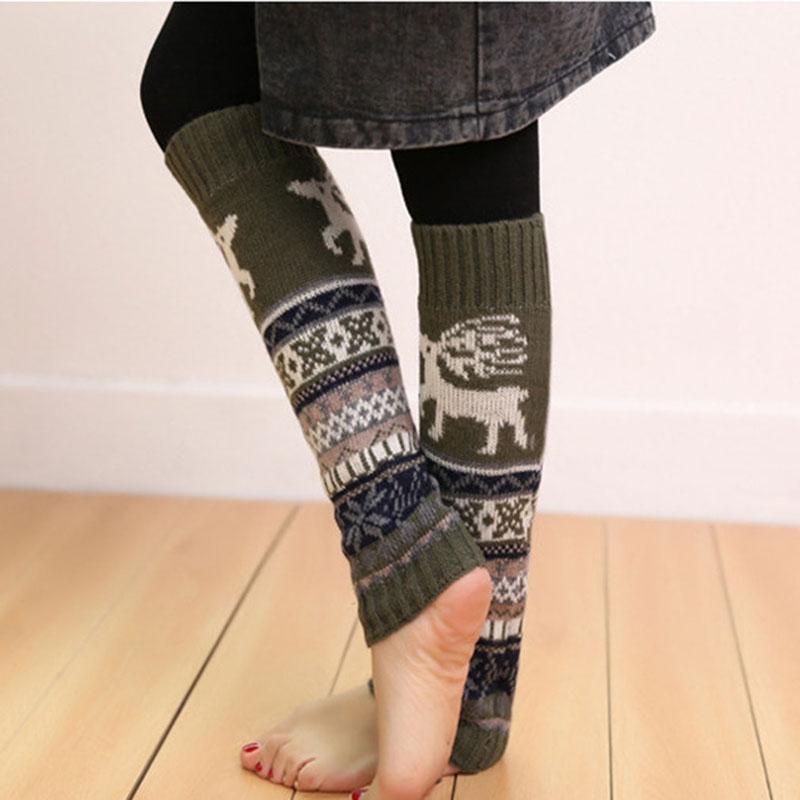 [해외]2017 여성을레그 워머 겨울 가을 새 따뜻한 폴라니아 니트 소녀 및 숙녀 프린트 캐주얼 루스 크로 셰 뜨개질 긴 양말/2017 Leg Warmers For Women Winter Autumn New Warm Polainas Knitted Girl&s Ladie