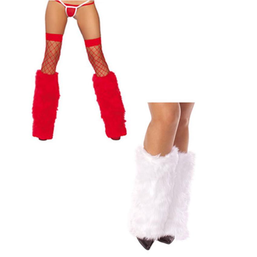 [해외]Abbille 새로운 3 색 섹시한 모피 레그 워머 검정 흰색 빨강 레이브 푹신한 레이디 부츠 커버 산타 크리스마스 한 사이즈 맞는/Abbille New 3 Colors Sexy Faux Fur Leg Warmers black white red Rave Fluf