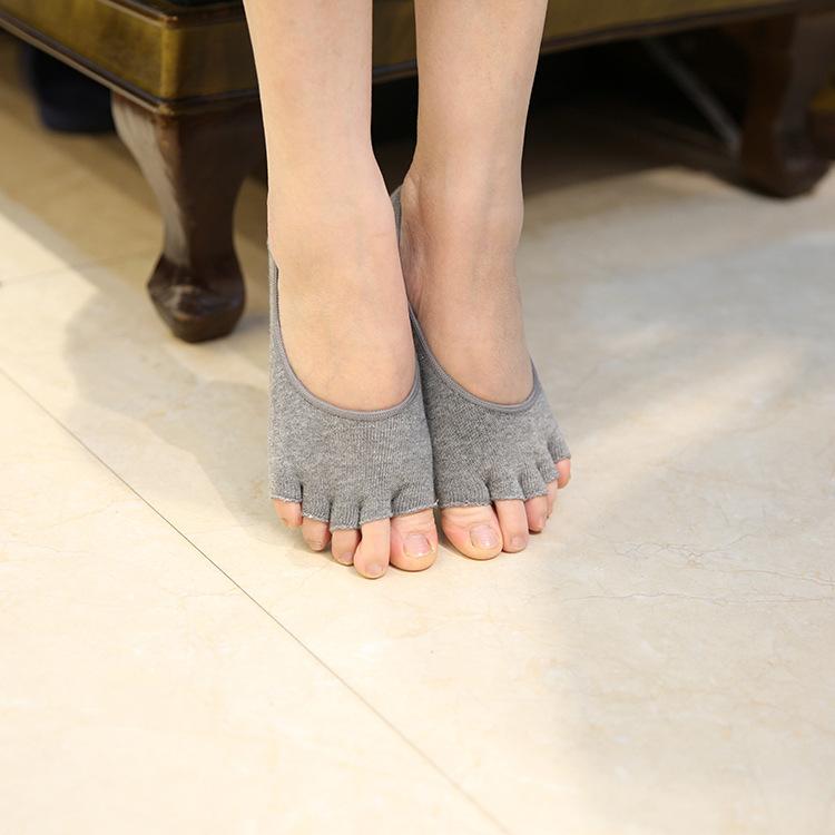 [해외]OUIRRY 여성 면직성 탄성 보이지 않는 라이너 No Show Peds 로우 컷 피프 발가락 오픈 토 밍 양말 패션 5 색/OUIRRY Women Cotton Elastic Invisible Liner No Show Peds Low Cut Peep Toes O