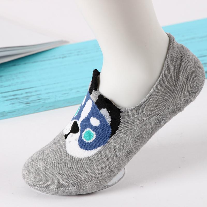[해외]PEONFLY 동물 강아지 귀여운 만화면 양말 비 슬립 실리콘 보이지 않는 숙 녀 보트 양말/PEONFLY Animal dog cute cartoon cotton socks Non slip silicone invisible Ladies boat socks