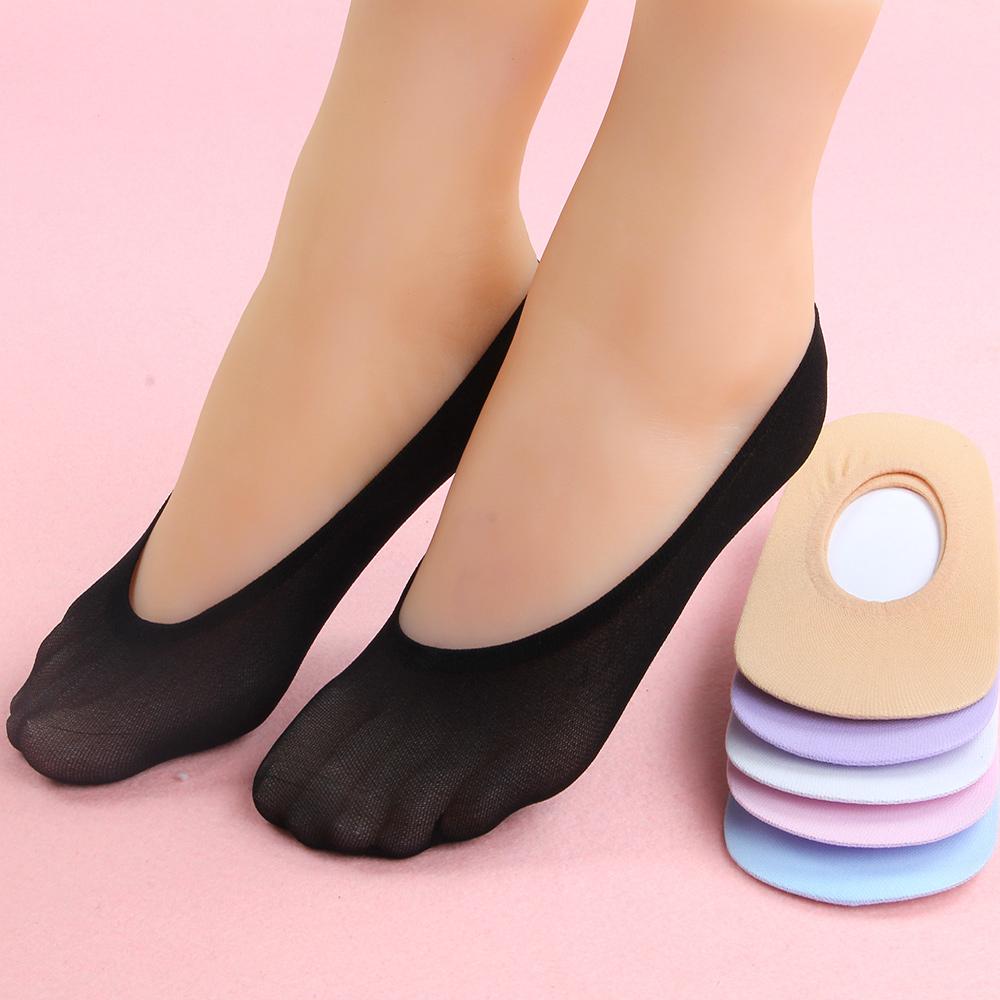 [해외]10 쌍 여성 양말 미끄럼 방지 눈에 보이지 않는 라이너 없음 쇼 페달 로우 컷 아이스 양말 크리스탈 얇은 투명 얇은 실크 양말/10 Pairs Women Sock Antiskid Invisible Liner No Show Peds Low Cut Ice sock