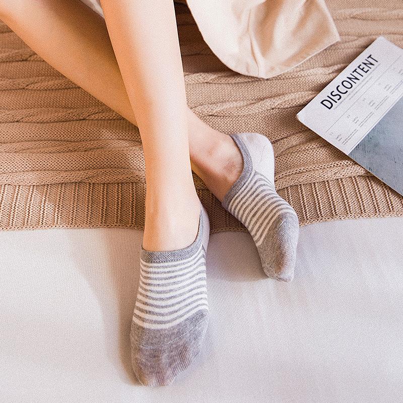 [해외]스트 라이프 편안한 목화 여자 여자 보트 양말 발목 낮은 여자 보이지 않는 컬러 여자 소년 슬리퍼 양말 4pair = 8pcs WS102/Stripe comfortable cotton girl women boat socks ankle low female invi