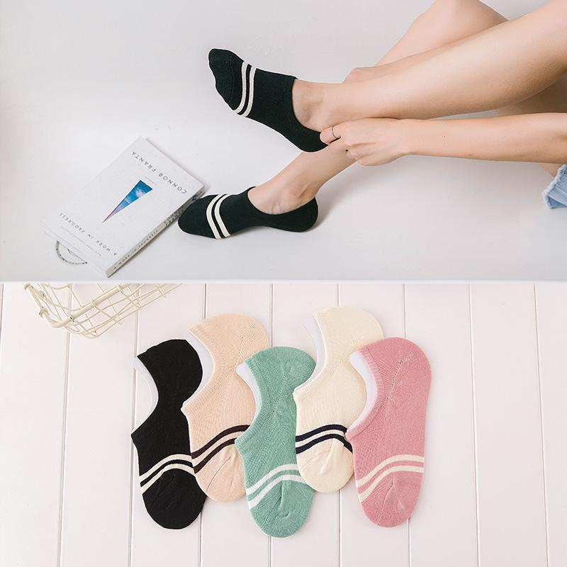 [해외]안락한 면화 여자 여자의 양말 발목 낮은 여자 보이지 않는 색깔 여자 소년 양말 숙녀 보트 양말 슬리퍼 4pair = 8pcs WS97/comfortable cotton girl women&s socks ankle low female invisible color