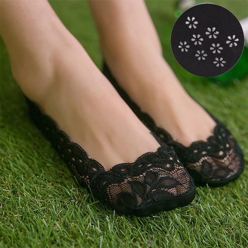 [해외]2016 코튼 한국어 버전의 새 여름 얕은 입 보트 양말 풋 슬립 레이스 실리콘 여성 얇은 안티 오프/2016  Cotton Korean Version Of The New Summer Shallow Mouth Boat Socks Leaves Foot Slip L