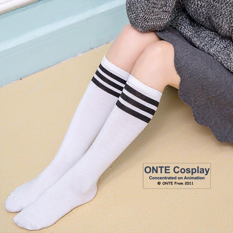 [해외]여성 양말 패션 무릎 길이의 3 스트라이프 양말 야구 양말 레이디에 대한/Women Hosiery Fashion Knee-length 3 Striped Socks Baseball Socks for Lady