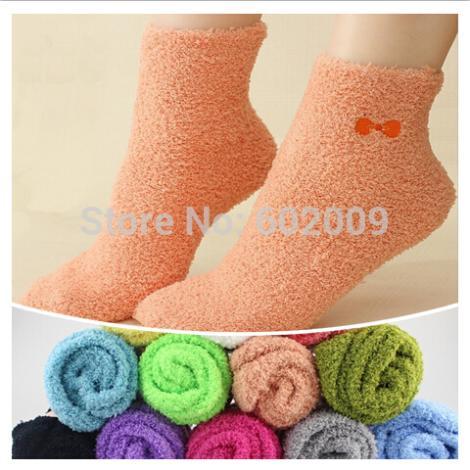 [해외]6쌍 = 1 많은 겨울 벨벳 따뜻한 여성 양말 다채로운 귀여운 가와이이 활 퍼지 예술 캐주얼 여성 양말 MF7596232/6 pairs=1 lot Winter Velvet Warm Women Socks Colorful Cute Kawaii  Bow Fuzzy A