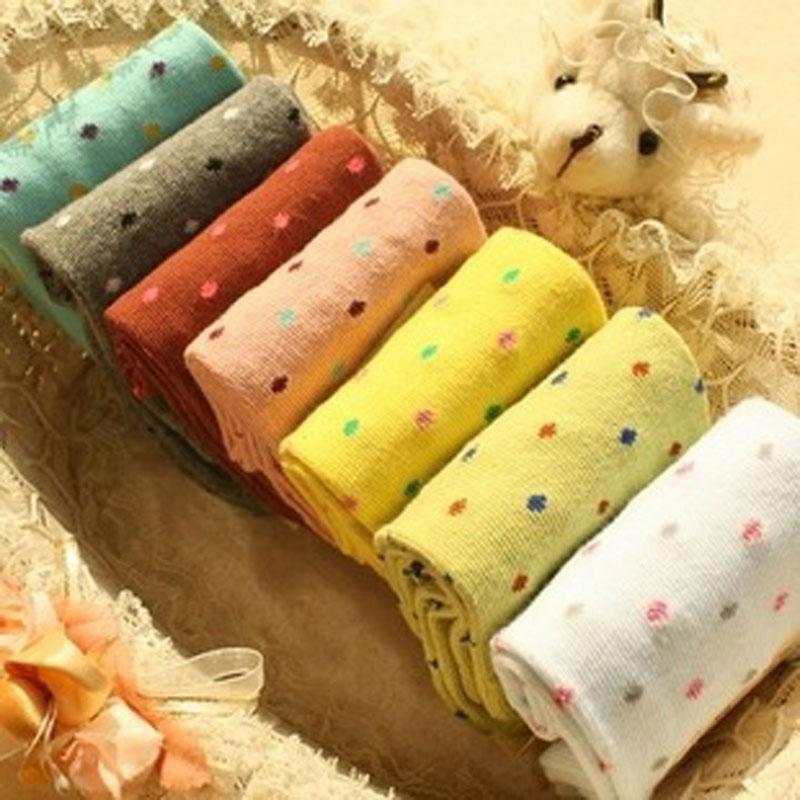 [해외]5Pairs 저렴한 귀여운 여성 & 양말 캔디 점 폴카 점 발목 양말 따뜻한 양말 여성 양말 Calcetines Mujer Chausettes Femme/5Pairs Cheap Cute Women&s Socks Candy Dots Polka Dot  An