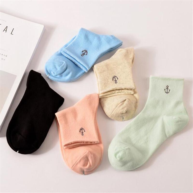 [해외]5 쌍 새로운 패션 여성 양말 여성 캔디 컬러 튜브 면화 양말 숙녀 솔리드 캐주얼 귀여운 따뜻한 calcetines 양말 여성을위한/5 Pair New Fashion Women Socks Female Candy Color In Tube Cotton Socks L