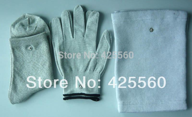 [해외]전도성 슬리버 섬유 전극 마사지 장갑 & amp; 양말 & amp; 물리 치료 용 TENS / Unit 용 Kneepad 사용/Conductive Slivery Fiber Electrode Massage Gloves & Socks &