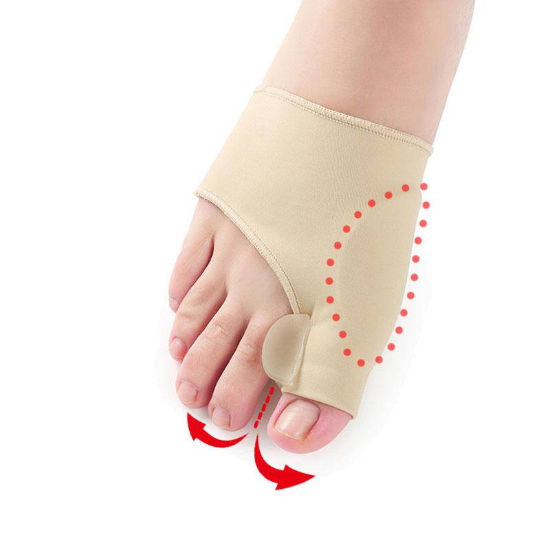[해외]1Pair Bunion 젤 양말 Hallux Valgus 장치 발 통증 페디큐어 정형 보정 양말에 대 한 엄지 발가락 구분자 양말을 완화/1Pair Bunion Gel Socks Hallux Valgus Device Foot Pain Relieve Big Toe