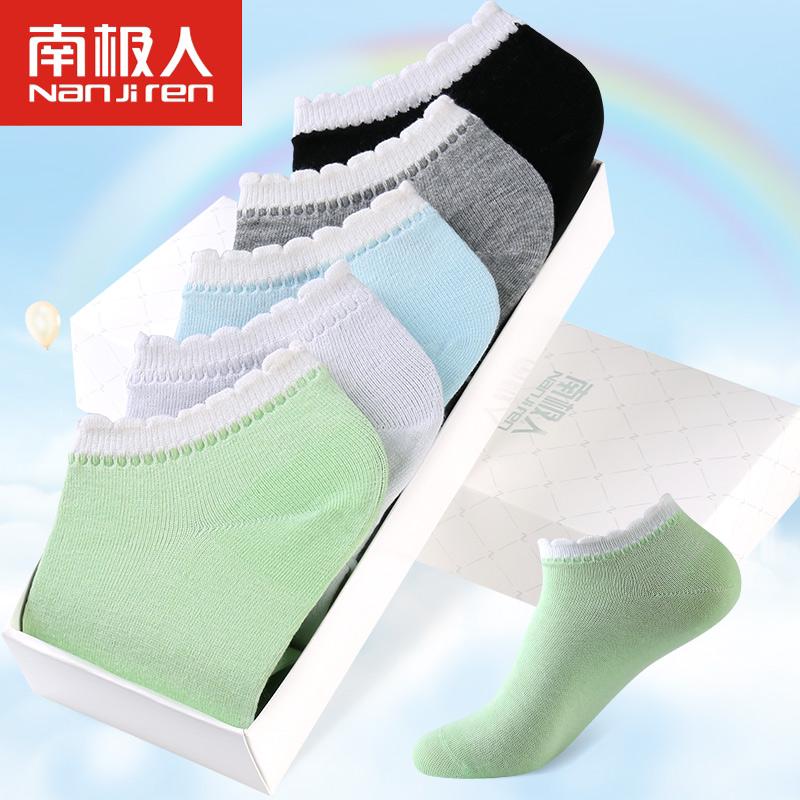[해외]2017 새로운 5 쌍 코튼 양말 니트 끈 여성 양말 부드러운 보이지 않는 통기성 짧은 양말 양말 숙녀 양말/2017 New 5 Pairs Cotton Socks Knitted Laces Women Socks Soft Invisible Breathable Sho