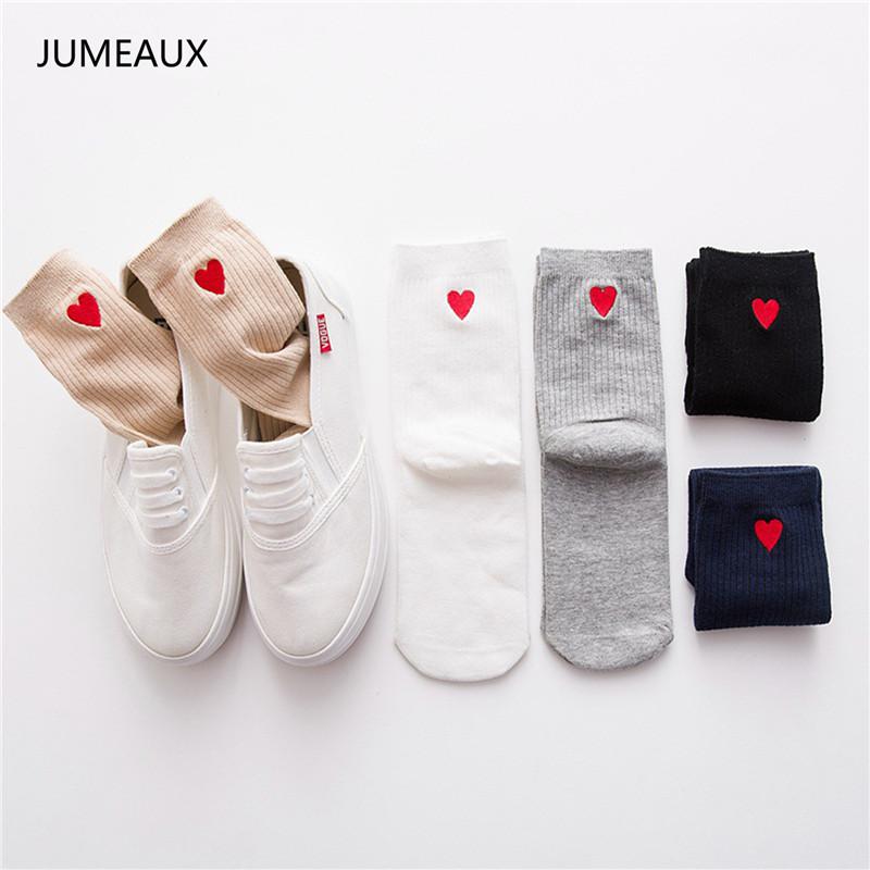[해외]JUMEAUX 5 색 2017 새로운 여성 양말 패션 코튼 솔리드 양말 3D 사랑의 하트 점 봄 여름 여성 달콤한 긴 양말에 대 한/JUMEAUX 5 Colors 2017 New Women Socks Fashion Cotton Solid Socks 3D Love