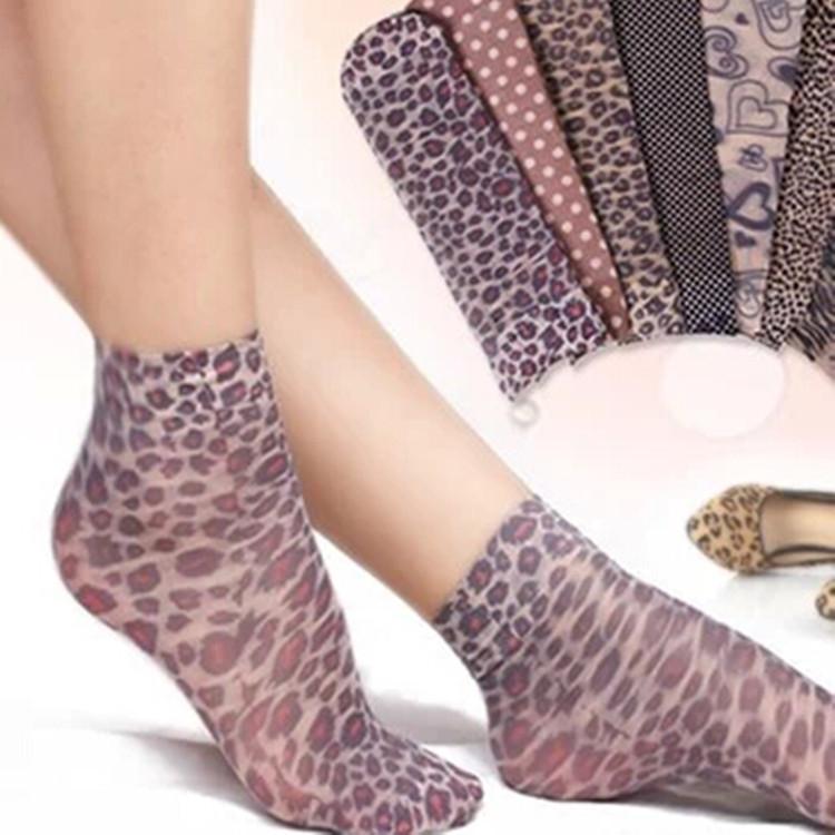 [해외]?20pcs = 10 pairs / lot 여성 패션 양말 레이디 & 실크 sox 여성 & s soks 여성 여성 여름 양말 여성 표범/ 20pcs=10 pairs/lot  Women&s Fashion Socks lady&s silk sox wom