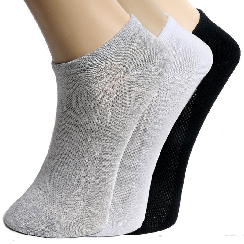 [해외]20Pcs = 10Pair 솔리드 ??메쉬 여성 양말 보이지 않는 발목 양말 여성 여름 통기성 씬 보트 양말 빅 사이즈 calcetines EUR 36-42/20Pcs=10Pair Solid Mesh Women&s Socks Invisible Ankle Sock