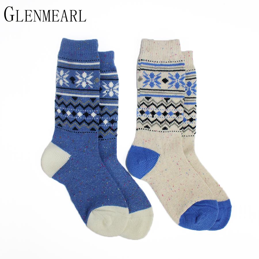 [해외]메리노 울 여성 양말 고급 컬러 포인트 자카드 브랜드 겨울 따뜻한 Coolmax 압축 숙 녀 캐주얼 발목 부팅 양말 2PK/Merino Wool Women Socks Upscale Color Point Jacquard Brand Winter Warm Coolma