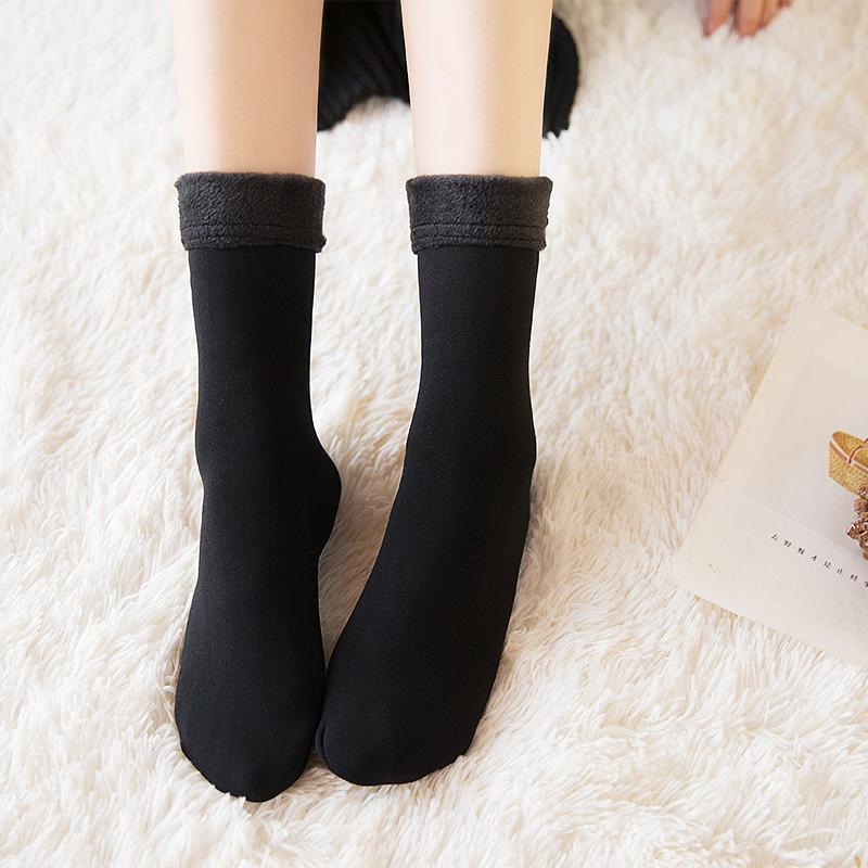 [해외]가을과 겨울 플러스 벨벳 양말 두꺼운 양말 겨울 두꺼운 열 감옥 양말 양말 여성 두꺼운 양말/Autumn and winter plus velvet socks thickening sock winter thick thermal incarcerators sleepin