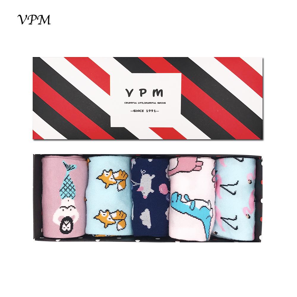 [해외]VPM GIFT BOX 겨울 가을 따뜻한 여성 양말 다채로운 만화 귀여운 동물 개 고양이 폭스 ET 러블리 재미 있은 양말 (5 쌍 / 많은)/VPM GIFT BOX Winter Autumn Warm Women Socks Colorful Cartoon Cute