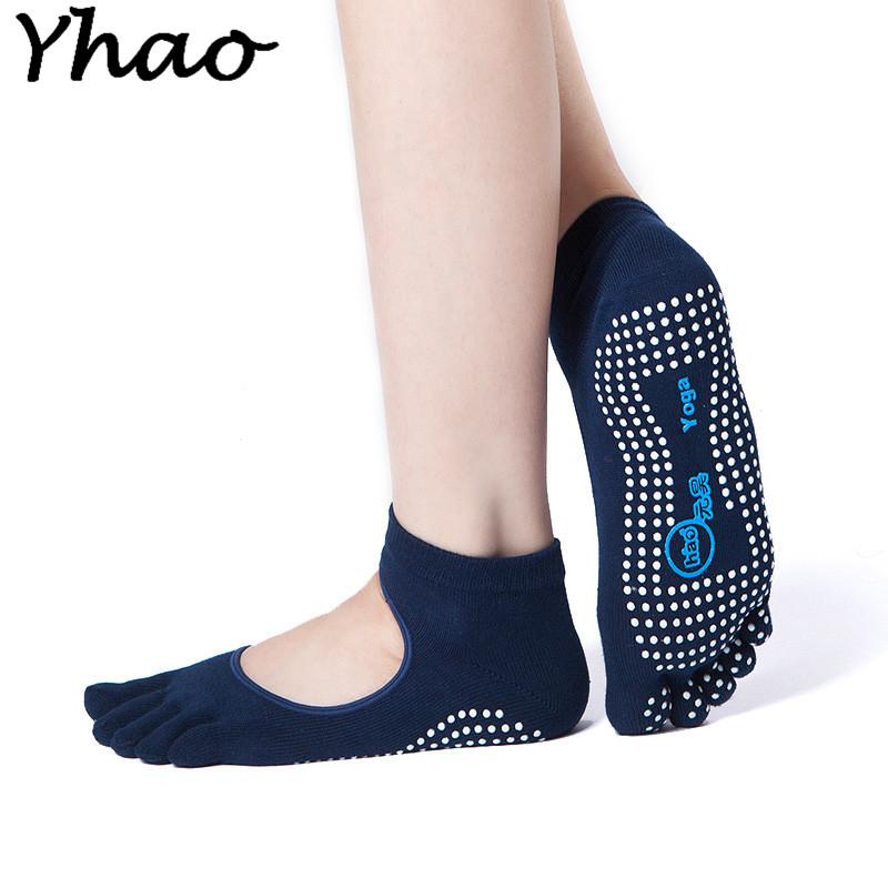 [해외]Yhao 여성 요가 Backless 다섯 발가락 안티 - 슬립 발목 그립 양말 도트 필라테스 피트니스 체육관 양말 숙녀 스포츠 양말/Yhao Women Yoga Backless Five Toe Anti-Slip Ankle Grip Socks Dots Pilate