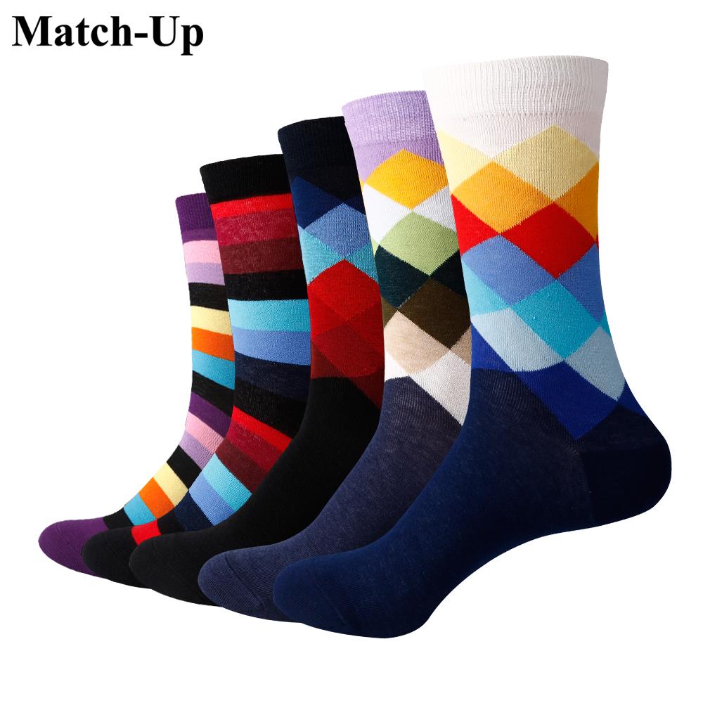 [해외]Match-Up Men Gradient Color Crew 양말 브랜드 비즈니스 양말 (5 쌍 / 많은)/Match-Up Men Gradient Color Crew socks  Brand Business Socks  (5 pairs / lot )