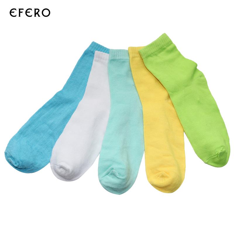 [해외]5Pairs 여성 양말 짧은 여성 발목 양말 단색 여성 캐주얼 양말 Calcetines 여성 숙녀 Chaussettes Meias Feminina/5Pairs Women Socks Short Female Ankle Socks Solid Colors Women C