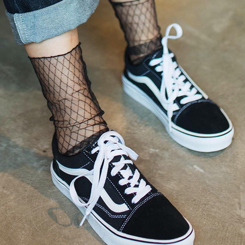 [해외]통풍이 잘되는 Chaussette 그물에 섹시한 Meia Calcetines Fishnet 양말 Kapron 단락 Hollow Ankle Women 's socks Meias Calcetines/Breathable Chaussette Sexy Meia C