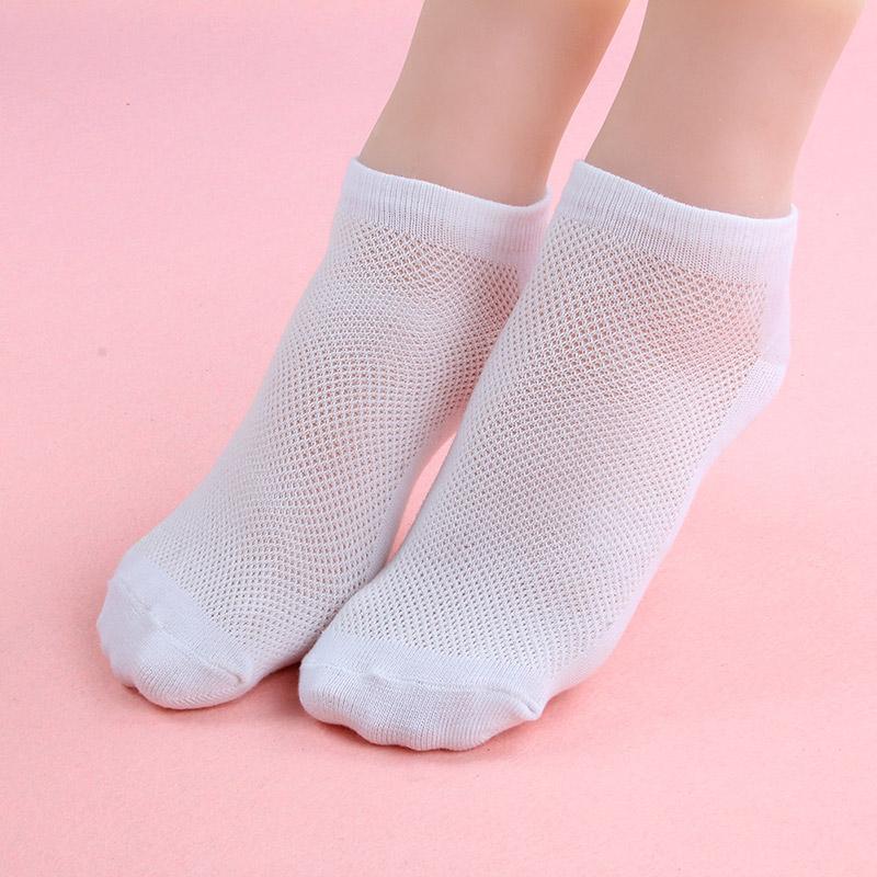 [해외]10 쌍 여성 양말 발목 양말 여름 얇은 보트 양말 여성 솔리드 화이트 그레이 블랙 코튼 3D 숙녀 양말/10 Pair Womens Socks Ankle Socks Summer Thin Boat Socks Female Solid White Gray Black C