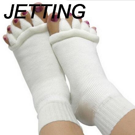 [해외]1 쌍의 발가락 양말 발 뒤꿈치 발가락 구분 기호 손가락 마사지 다섯 발가락 양말 피부 관리 발 통증 여성 양말 여성 양말/1 Pair Pediture Socks For Heels Toe Separators Fingers Massager Five Toe Sock