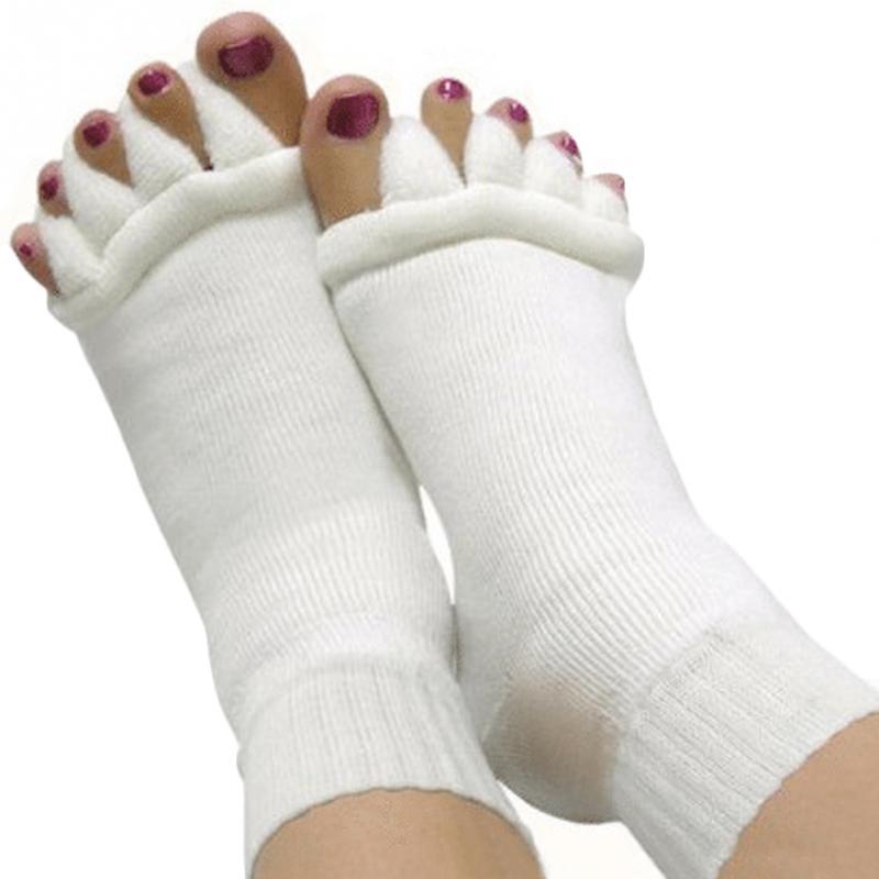 [해외]패션 캐주얼 다섯 발가락 양말 마사지 구분 구분자 발 통증 소프트 건강 남성 여성 스트레치 텐던 완화 아크릴 화이트/Fashion Casual Five Toe Socks Massage Separator Foot Pain Relief Soft Health Men