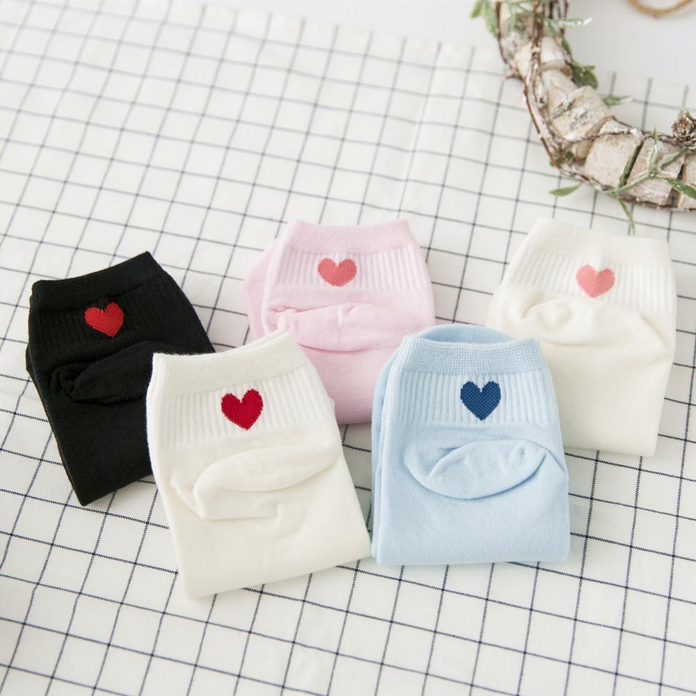 [해외]2017 년 가을 새로운 봄 여성 양말 5 쌍 면화 여성 짧은 양말 여성 호흡 면화 양말 귀여운 한국 스타일 핑크/2017 new autumn spring women socks 5 pairs cotton women fashion short socks women