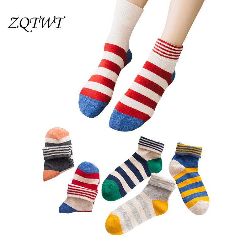 [해외]ZQTWT 5Pair / Lot 여성 양말 귀여운 고양이 러블리 양말 캐주얼 스트라이프 코튼 양말 고양이 패션 귀여운 여성 양말 양말 3WZ072/ZQTWT 5Pair/Lot  Women Socks Cute Cat Lovely Funny Socks Casual