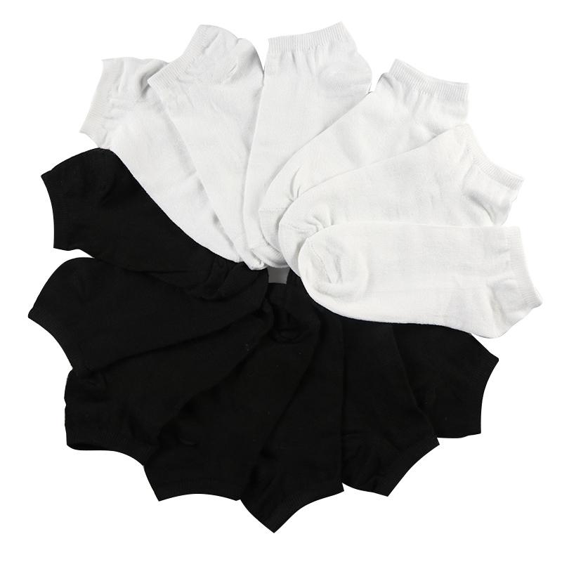 [해외]7Pair 여성 & s 양말 짧은 여성 로우 컷 발목 양말 여성 여성 검은 색 양말 짧은 Chaussette Sox/7Pair Women&s Socks Short Female Low Cut Ankle Socks For Women Ladies White B