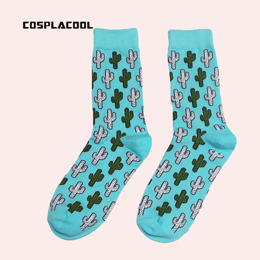 [해외][COSPLACOOL] 만화 크리에이티브 Novetly UniCalcetines USA 패션 크루 양말 하라주쿠 선인장 무늬 양말 Meias/[COSPLACOOL] Cartoon Creative Novetly UniCalcetines USA Fashion Cre